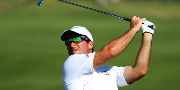 Ryan Fox plays a shot during the men's golf at the Rio 2016 Olympic Games. Photo / Getty Images