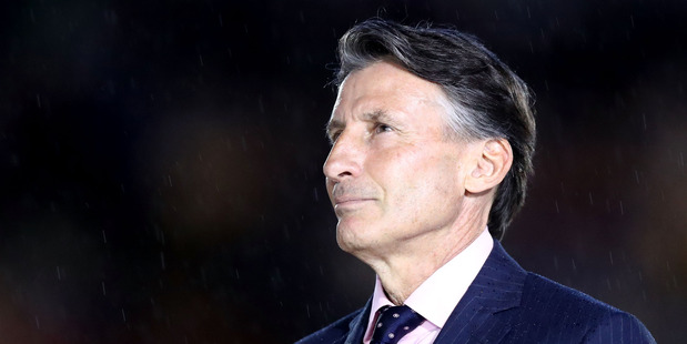 President of the IAAF Sebastian Coe during the Rio 2016 Olympic Games. Photo / Getty Images