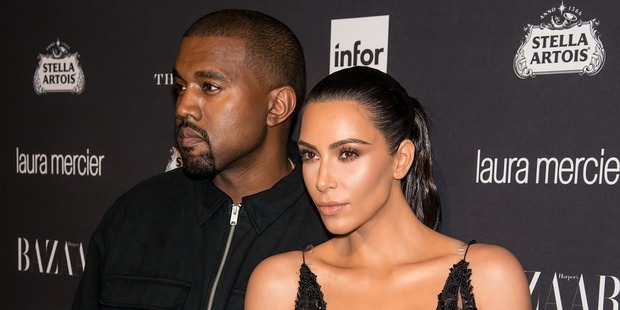 Kanye West and Kim Kardashian West attend a Harper's Bazzar event. Photo / Getty Images
