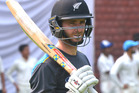 New Zealand cricket captain Kane Williamson during a training session in India. Photo / Getty