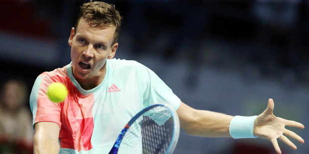 Tomas Berdych at the 21st St Petersburg international tennis tournament. Photo / Getty Images