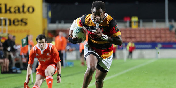 Waikato winger Iliesa Ratuva Tavuyara scored twice tonight. Photo / Getty