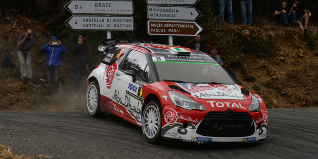 Craig Breen during Day Two of the WRC France. Photo / Getty Images