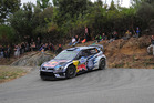 Sebastien Ogier during Day Two of the WRC France. Photo / Getty Images