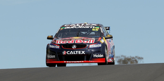 Jamie Whincup drives the #88 Red Bull Racing Holden during practice for the Bathurst 1000. Photo / Getty Images