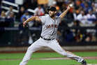 Madison Bumgarner pitches in the National League Wild Card game at Citi Field. Photo / Getty Images