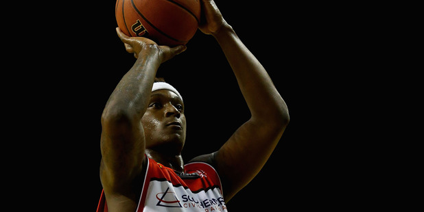 Marvelle Harris shoots against the Adelaide 36ers. Photo / Getty Images