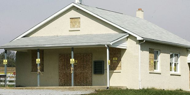 The one room Amish school house, where Charles Roberts killed five schoolgirls. It has since been demolished. Photo / Getty
