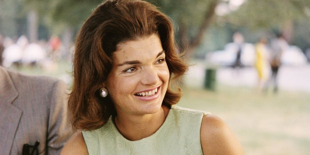 Former First Lady Jacqueline Kennedy enjoys herself at a picnic circa the 1960s. Photo / Getty