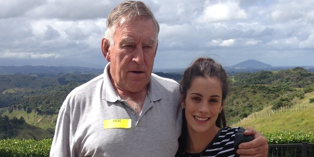 Sir Colin Meads with his granddaughter Abbe. Photo / supplied