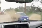 Raw footage of flooding in Huntly as downpours continue to plague the north island