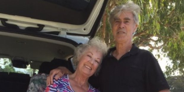 Jane and Brian are delighted to be back together. Photo/supplied