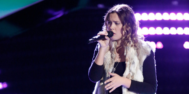 Natasha Bure at The Voice blind audition. Photo / Supplied
