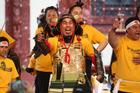 WINNERS: Te Koutu Marae won first place at the Ngati Whakaue Whakanuia on Saturday. PHOTO/BEN FRASER