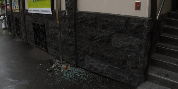 The truck hit a brick wall. Photo / Mauro Teixeira