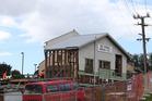 The Te Puna Hall being dismentled. Photo/John Borren