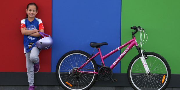 India O'Connell, 9, will be appearing on a Weet-Bix box coming soon to a breakfast table near you. PHOTO/JOHN BORREN