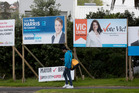Election billboards located around Auckland. Photo / Dean Purcell