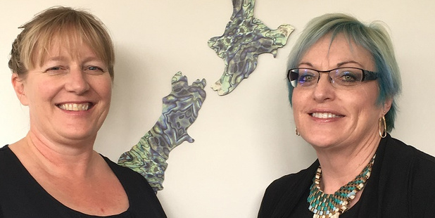 Marianne Archibald, the new CEO of the Whanganui Chamber of Commerce and Industry with chamber president Raewyn Overton-Stuart. Photo/Supplied