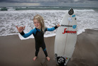 Six-year-old surfer, Indica Knox Corcoran, has won an Australian surfing competition. Photo/John Borren