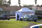 Police at the scene on Calthorp Close, Favona. Photo / Dean Purcell