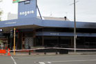 The Angora Restaurant -- badly damaged by fire and cordonned off on Saturday morning.