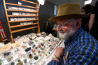 Dave Blakemore brought his wares to Tauranga Gemstone, Crystal and Mineral. Photo/George Novak