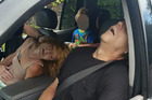 Ohio police released a graphic photo of a couple overdosing on heroin with a four-year-old boy in the car last month.