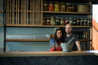 Artist Tiffany Singh with chef Ed Verner of Pasture have collaborated to create an art food project for the upcoming art week. New Zealand Herald Photo: Dean Purcell.