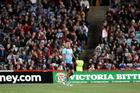 Andrew Fifita walks off after being sin binned during the State of Origin. Photo / photosport.nz