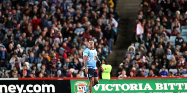 Andrew Fifita walks off after being sin binned during State of Origin earlier in the year. Photo / photosport.nz
