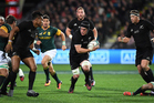 Matt Todd came off the bench when the All Blacks beat the Springboks earlier in the year. Photo / photosport.nz