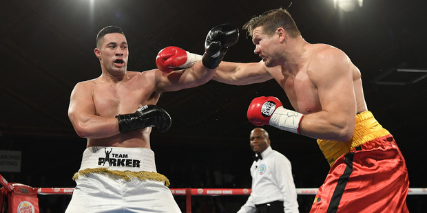Joseph Parker versus Alexander Dimitrenko. Photo / www.photosport.co.nz