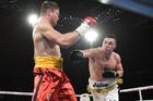 New Zealand heavyweight boxer Joseph Parker versus Ukraine's Alexander Dimitrenko.