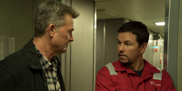 Kurt Russell and Mark Wahlberg start in the film Deepwater Horizon. Photo / Warner Pictures