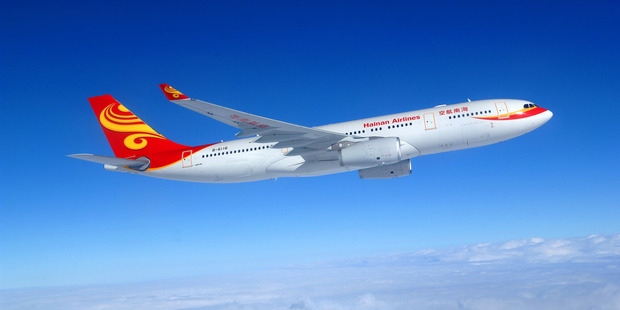 A Hainan Airlines Airbus A330.  The airline will start flying to Auckland from New Year's Day.