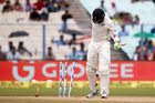 Opener Martin Guptill is bowled on the second day of the second cricket test against India. Photo / AP