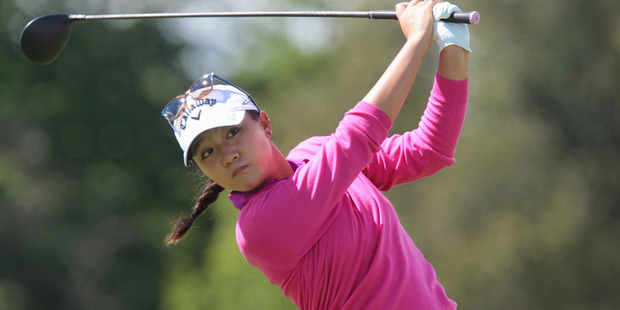 Lydia Ko, of New Zealand, tees off on the sixth hole at the Manulife LPGA Classic golf tournament in Cambridge, Ontario, Thursday, Sept. 1, 2016. Photo / AP.