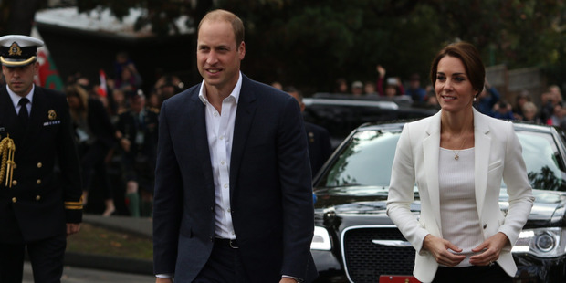 Britain's Prince William and Kate visit the Cridge Centre for the family to meet people. Photo / AP