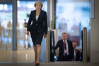 Britain's Prime Minister Theresa May before the start of the annual Conservative party conference. Photo / AP