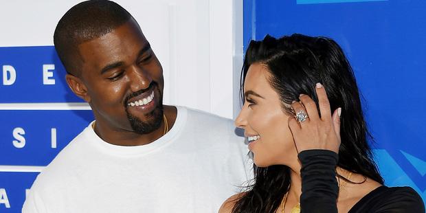 Kanye West, left, and Kim Kardashian West. Photo / AP