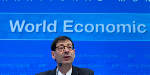 International Monetary Fund (IMF) Economic Counsellor Maurice Obstfeld speaks at a news conference during the World Bank/IMF Annual Meetings in Washington. Photo / AP