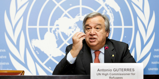 Antonio Guterres was the prime minister of Portugal from 1995 to 2002. Photo / AP