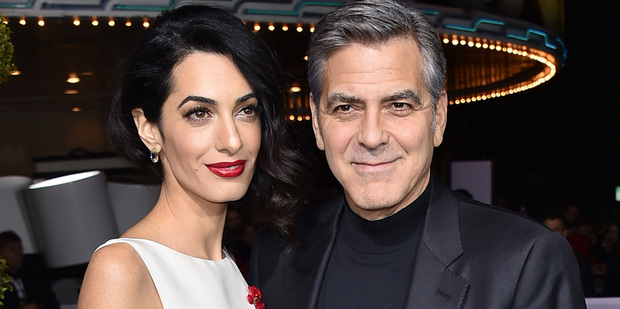 George Clooney cooked Amal Clooney a home made dinner to celebrate their second year anniversary. Photo / AP