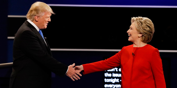 "After he was bested by Democratic nominee Hillary Clinton in the first debate, Trump said: ""I may hit her harder"" in the second one. Photo / AP"