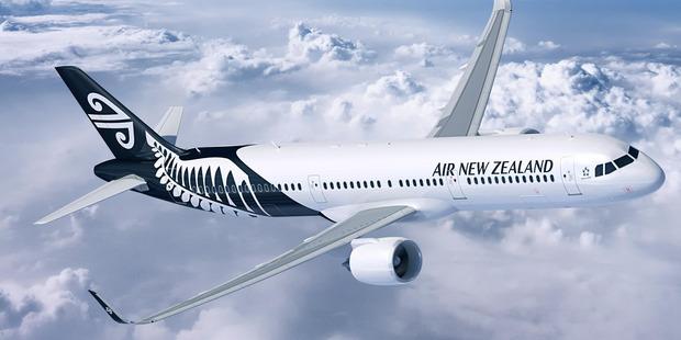 An Air New Zealand Airbus A320 aircraft.