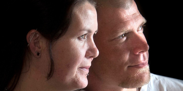 Ashleigh French (pictured with partner Shane Morris) is fundraising for a special room at Rotorua Hospital for women who suffer stillbirths. PHOTO/FILE