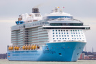 When the largest of this summer's record number of cruise ships arrives in December, the Royal Caribbean line's Ovation of Seas will be too big to berth at Auckland. Photo / Supplied