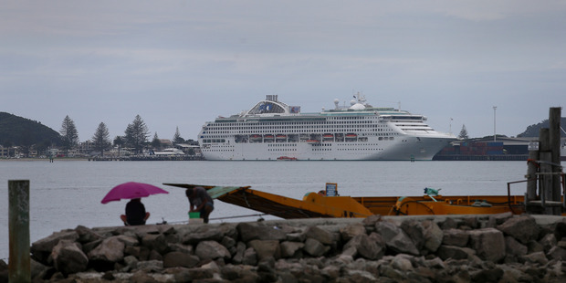 The Sun Princess will be the first cruise ship of the season to arrive in Tauranga on Sunday. Photo/file