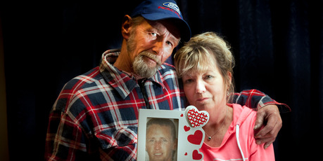 Te Puke couple Dave Crawford and Fiona Crawford, parents of Darrell Crawford who was addicted to methamphetamine and murdered. His body has never been found. Photo/ Andrew Warner